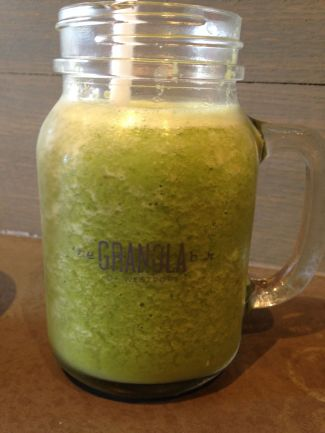 The Shrek Smoothie (spinach, kale, banana, apple, almond butter & almond milk