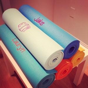 Monogrammed Yoga Mat, She la la