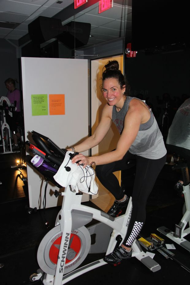Megan Hoffman post cycle class.