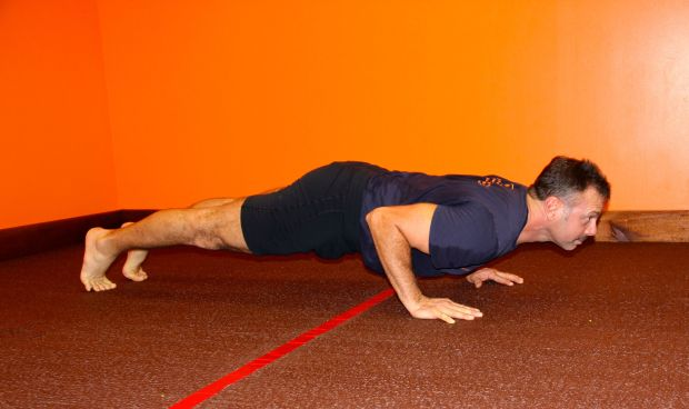 Richard in a perfect low plank