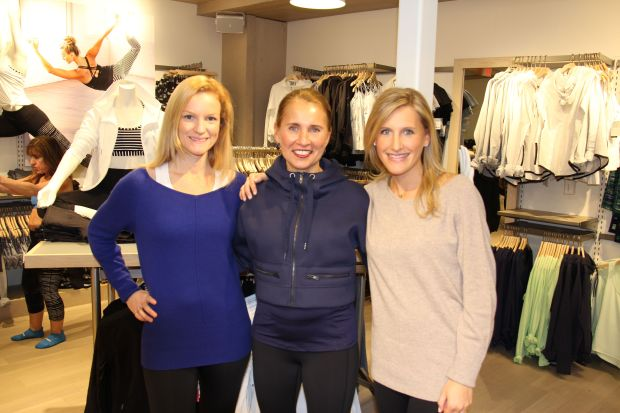 The gorgeous Moffly Media ladies are perfect Athleta models.  Love those cashmere sweaters.