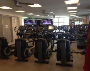 Third floor cardio equipment area.